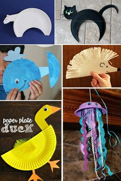 Fun animal paper plate crafts for kids. Make all your favorite animals!