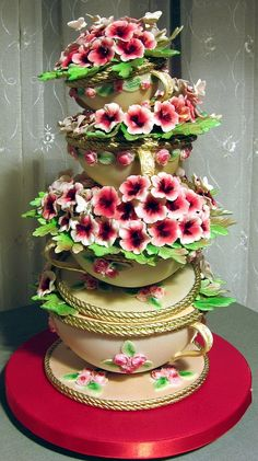 by Branka Jovanovic Beautiful Cake Crazy Cakes, Fancy Cakes, Pink Cakes, Gorgeous Cakes, Pretty Cakes, Amazing Cakes, Unique Cakes, Creative Cakes, Elegant Cakes
