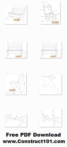2×6 outdoor bench plans, free PDF download, includes step-by-step instructions, drawings, measurements, shopping list and cutting list.