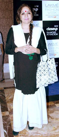 Neena Gupta at the Lakme Fashion Week Winter/Festive 2014 opener. #Bollywood #Fashion #Style #Beauty #Page3