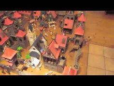 Playmobil Mittelalter Stadt mit Ritterburg - Medieval Middle Age City wi...