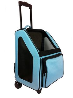 catote Rio cat Carrier Bag on Wheels, Black Trim/Turquoise Blue ^^ To view further, visit now : Cat Cages, Carrier and Strollers