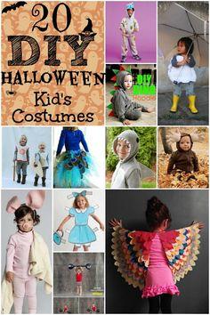 20 DIY Halloween Kid's Costumes http://www.lifewiththecrustcutoff.com/20-diy-kids-halloween-costumes/ #costumes #DIY #halloween #kids