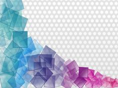 XOO Plate :: Transparent Color Cubes Abstract Background - Colorful clear squares on dotted grey vector background - Ai. Yoga Background, Background Powerpoint, Geometric Background, Background Patterns, Geometric Shapes, Vector Background, How To Make Image, Cube Pattern, Web Design