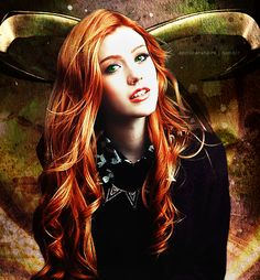 Fanmade poster for Kat McNamara as Clary Fray #Shadowhunters official cast