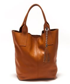 Cognac Leather Hobo
