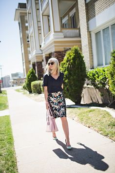 Like the outfit - printed skirt