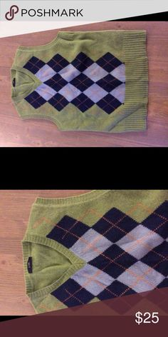 J Crew Argyle Vest Excellent Shape J Crew Sweaters V-Necks
