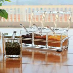 Spice rack! Shop now: https://ealpha.com/home-utility/kitchen-supplies-clear-plastic-swivel-seasoning-box-spice-jar/10387 Also, you can Inbox or whatsapp us at +91-9300002732