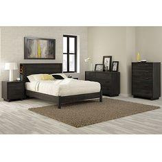 South Shore Fynn 5-Piece Full Bedroom Set, Gray Oak: Furniture : Walmart.com