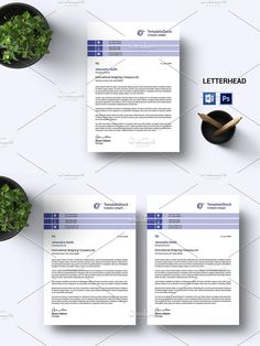 Stationery Templates, Letterhead, Photoshop Elements, Custom Design, Layout, Words, Color, Page Layout, Colour