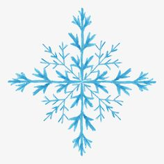 Hand-painted watercolor snowflake pattern material, Snowflake Shape, Snowflake Pattern Material, Pattern Shading PNG and Vector