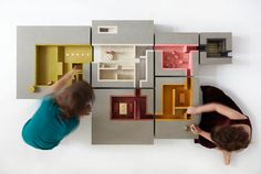DUGGAN MORRIS ARCHITECTS In collaboration with Unit 22 Modelmakers - Multi-story has been designed to aid early intervention strategies for children with developmental disability Autistic Spectrum. Duggan Morris, House Swap, House 2, Wooden Castle, Architectural Photographers, Architectural Models, Arch Model, Project, Conceptual Design