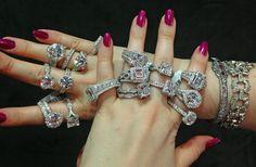 Tacori, Mervis, diamond engagement ring, platinum, diamonds, 1 carat, 2 carats, 3 carats, setting, 4 carats, round brilliant, princess cut, emerald cut, filigree, halo, pave, double halo, bride, bridal, wedding, princess, split shank, antique vintage style
