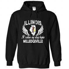MILLEDGEVILLE - Its where my story begins! - #tshirt headband #blue sweater. SAVE => https://www.sunfrog.com/No-Category/MILLEDGEVILLE--Its-where-my-story-begins-3792-Black-Hoodie.html?68278