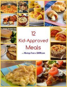 tired of chicken nuggets, mac' n cheese - these are 12 Kid-Approved Meals for you - and the millions of other moms who would love inspiration for new kid-friendly meals.