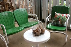 Itu0027s Vintage Yard Furniture; 031514 The Barn Nursery, Chattanooga, Tn.  Remember These Comfortable Gliders Of Days Past.you Can Get It At The Barn  Nursery!