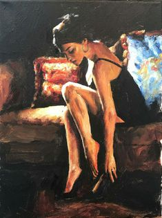 Woman Painting, Painting & Drawing, Fabian Perez, Arte Obscura, Illustration, Classical Art, Pulp Art, Portrait Art, Erotic Art