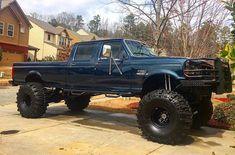 big trucks and girls Big Ford Trucks, Classic Ford Trucks, Lifted Ford Trucks, 4x4 Trucks, Custom Trucks, Cool Trucks, Lifted Chevy, Jeep Truck, Chevy Trucks