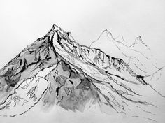 """mountain drawing - a well traveled woman // tattoo idea...with the quote """"My restless, roaming spirit would not allow me to remain at home very long."""""""