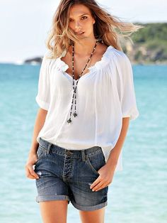 Peasant Blouse #VictoriasSecret http://www.victoriassecret.com/clothing/view-all-tops/peasant-blouse?ProductID=121199=OLS?cm_mmc=pinterest-_-product-_-x-_-x