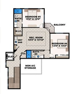 House Plan 207 00021   Mediterranean Plan: 6,574 Square Feet, 7 Bedrooms, 6  Bathrooms