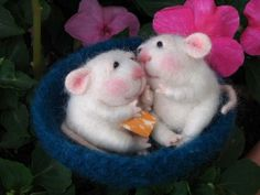 Needle Felted Doll wool by feltedmice  .