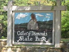 """Crater of Diamonds State Park in Arkansas is the only diamond-producing site in the world open to the public. The park allows visitors to dig for diamonds and, unlike most public mining sites, has the policy """"finders, keepers."""""""