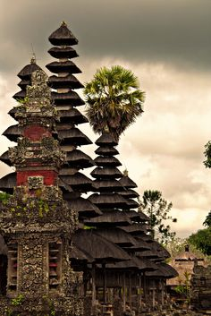 Gulingan, Bali, Indonesia - A Pura is a Balinese Hindu temple and the place of worship for the adherents of Balinese Hinduism in Indonesia. Most of the Puras are found on the island of Bali, as Hinduism is the predominant religion in the island; however many Puras exist in other parts of Indonesia where there are significant numbers of Balinese people // Jorge Sanmartín Maïssa