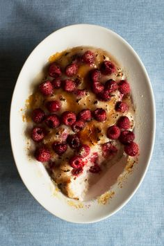 Raspberry Brûlée Rice Pudding