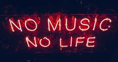 Royalty-Free photo: red no music no life neon signage Red Aesthetic Grunge, Neon Aesthetic, Music Aesthetic, Aesthetic Vintage, Aesthetic Videos, Images Esthétiques, Music Images, Music Pictures, Free Images