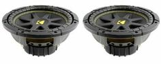 """Pair of KICKER 10C104 Comp 10"""" 600 Watt 4 Ohm Car Subwoofers Combo C10 10C10-4 by Kicker. $111.99. These TWO KICKER 10C104 Comp 10"""" 600 Watt 4 Ohm Car Subwoofers can handle 300 Watts of MAX power per Sub (600 Watts per PAIR) and 150 Watts of RMS power per Sub (300 Watts per PAIR). They feature a super-rigid, injection-molded cone with 360-degree back bracing, a high-temp coil wire, a vented pole piece for heat dissipation, a strong steel basket with coil-cooling peri..."""