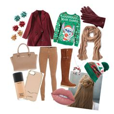 """winter"" by luciarakoczyova on Polyvore featuring Erin Considine, AG Adriano Goldschmied, Banana Republic, Michael Kors, Disney, Mark & Graham, Collection XIIX, Rebecca Minkoff, Lime Crime and MAC Cosmetics"
