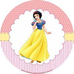 Olá Pessoal!!!   Tudo bem!!!   De ontem para hoje fiz uma enquete no Facebook para vocês votarem qual o próximo tema gostariam de ver dis... Castle Birthday Cakes, Ballerina Birthday Parties, Snow White Disney, Disney Princess Party, Bottle Cap Images, Girl Cakes, Disney Art, Paper Design, Ideas
