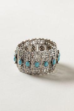 Turquoise Filigree Bracelet #anthropologie $38