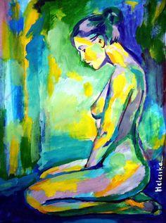 """Saatchi Online Artist: Helena Wierzbicki; Acrylic 2013 Painting """"""""Gilded glow"""""""""""