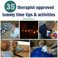 Love these Tummy Time tips and Tummy Time activities from therapists!