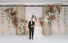 Wedding Backdrop Design, Wedding Stage Design, Wedding Reception Backdrop, Wedding Stage Decorations, Wedding Designs, Order Of Wedding Ceremony, Wedding Ceremony Flowers, Flower Wall Wedding, Luxury Wedding Decor