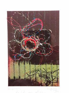 Bjørg J.Eigard art: Av håp gror gleda er tittelen på dette bildet som jeg har laget. Håndbroderi og frihandsbroderi med symaskin på silke. www.tradgrafikk.no or facebook: Trådgrafikk or tradgrafikk