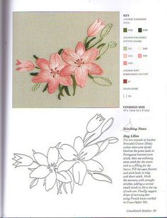 Revista Crewelwork - Lucilene Donini - Álbuns da web do Picasa. Beautiful Day Lilies. jwt