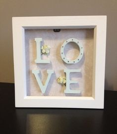 Love Box Frame by madewithlovebytracey on Etsy                                                                                                                                                                                 More                                                                                                                                                                                 More