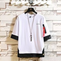 Men's Summer O-Neck Polyester Short-Sleeved T-Shirt Half Sleeves, Short Sleeves, Streetwear, Laced Up Shirt, Hip Hop Fashion, Fashion Men, Fashion Styles, Plus Size Men, Cheap T Shirts