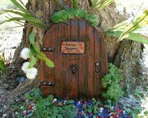 Large Fairy Door, Brown fairy door, gifts for mum, garden decor, garden door, garden statuary, outside decor, outdoor decor, fantasy art