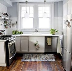 White Kitchen Design Ideas  Small Kitchen Design Ideas We have a very small kitchen looking at ideas to brighten the space and remodel a little.