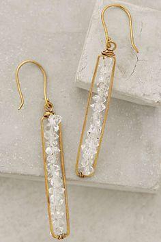 Anthropologie - Herkimer Matchstick Earrings