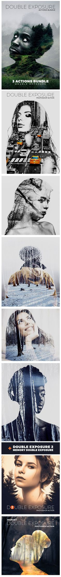Double Exposure Actions Bundle - Download…