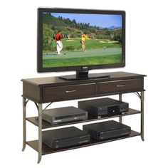@Overstock.com - Bordeaux Media TV Stand Espresso Finish - The Bordeaux Media TV Stand by Home Styles is constructed of poplar solids and birch veneers. This stand highlights transitional design characteristics.  http://www.overstock.com/Home-Garden/Bordeaux-Media-TV-Stand-Espresso-Finish/7953605/product.html?CID=214117 $234.40