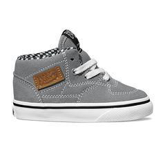 Vans HALF CAB Gris (VN-0OKVGYB) - Chaussures De Toile pour Garçons   Chaussures Panda #kids #shoes #fall2015 #vans