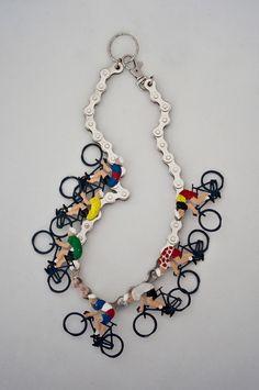 Bicycle Necklace by Mervi Kurvinen