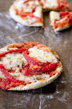 Pita pizza! Incredibly delicious, but surprisingly easy!